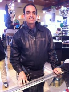One of our first give aways was a genuine leather Blazers jacket to one of our fun customers we see frequently.
