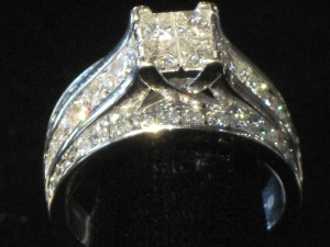 A beautiful diamond ring fit for a beauty