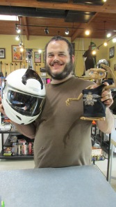 Capital Pawn gives away a FREE helmet to Bobby