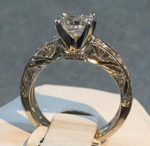 Ring Gold Diamonds silver Capital Pawn