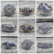 Vintage Style Diamond Rings